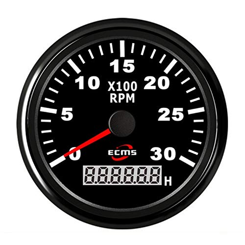 Tacómetro de Motor Diesel de Gasolina 85 mm 3 3/8 & quot;Medidor de RPM del tacómetro de Motocicleta Universal 3000 RPM Multímetro Digital Tester