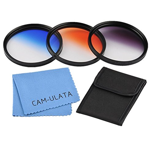 Preisvergleich Produktbild 67mm Graduated Colour Filters Set, CAM-ULATA Photography Graduated Color Lens Filter Kit with Wallet Filter Bag Pouch + Lens Cleaning Cloth for Canon EOS 650D 700D 5D Mark II Nikon Fujifilm Pentax Olympus Sony NEX-6 NEX-7 Alpha A7 A7R A7S A7 II A5000 A6000 DSLR Camera