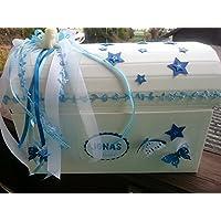 Erinnerungstruhe Erinnerungsbox STERNENKIND Blau Geschenkschachtel