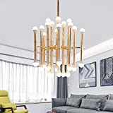 BuyBuyBuy Golden Simple Living Room Lampadario Di Bambù Ramo Creativo Lampade In Ferro Battuto Postmoderno Ristorante Creativo Camera Da Letto Lampadario Diametro 600mm nobile ed elegante