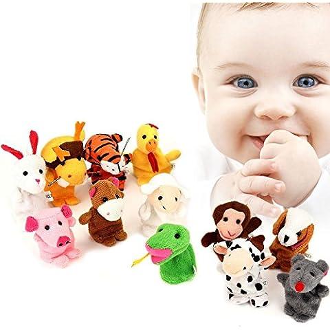 Marionetas del Dedo Juguetes del Dedo, Pupow 5pcs Navidad Papá Noel Monigote de Nieve Bebé Cuentos Ayudante, Dedo Juguetes Set, Regalo de Navidad para los Niños(Juguete del dedo)