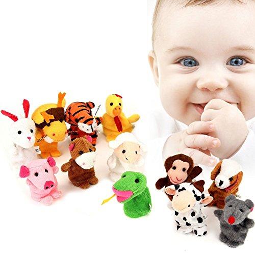 Marionetas del Dedo Juguetes del Dedo, Pupow 5pcs Navidad Papá Noel Monigote...