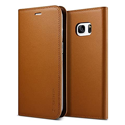 Étui / Housse Galaxy S7 Edge, VRS Design [Genuine Leather