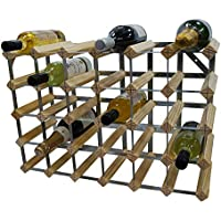 DS Wineware 30 Bottle Traditional Wine Rack - Fully Assembled - FSC Certified Natural Pine