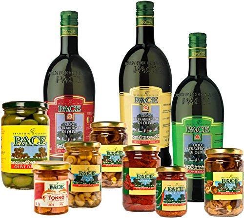 confezione-olio-e-sapori-della-basilicata-1-bottiglia-da-lt1-olio-extra-vergine-di-oliva-denocciolat