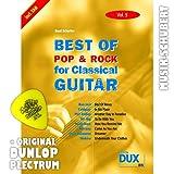 Best of Rock & Pop for Classical Guitar Vol.5 inkl. Plektrum - 8 Hits von COLDPLAY, NICKELBACK, NIRVANA u.a. arrangiert für Konzertgitarre als Solofassung (Noten/Tabulatur) und mit Begleitakkorden zum Mitsingen (broschiert) von Beat Scherler (Noten/Sheetmusic)