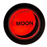 Moon Glow - Ombretto per la luce Neon UV 3.5g Rosso – produce un'incredibile brillantezza sotto l'illuminazione UV/luci scure
