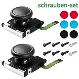 Haquno 2er-Pack 3D-Joystickersatz für Nintendo Switch Joy Con-Controller, Werkzeug/Zubehör Set für linken und rechten Analog-Controller