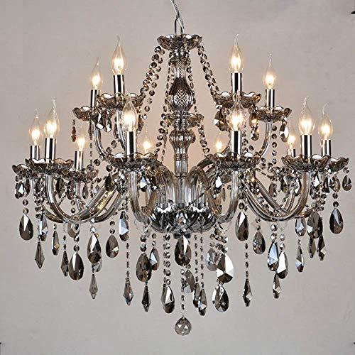 ZJ-TTravel Kronleuchter Deckenleuchten 10 Arm, Kronleuchter Deckenleuchten Crystal Led Shade Tischleuchte Traditionelles Zubehör Acryl Kunstwerk Geweih Art Deco, 6Köpfig -