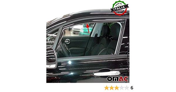 Omac Gmbh Fiat 500x Windabweiser Regenabweiser 2 Tlg Satz Vorne Ab 2015 Auto