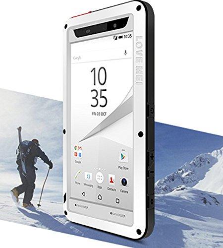 Wasserdicht Verizon-handys (Love Mei Schutzhülle für Sony Xperia Z5(13,2cm), wasserdicht stoßfest staubdicht Aluminium mit Gorilla-Glas)