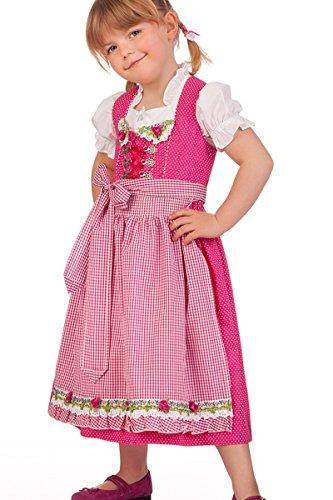 Trachten Kinderdirndl 3tlg. – ROSALIE – pink