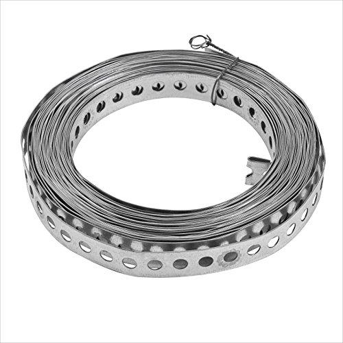 Stabilo-Sanitaer Montagelochband 17 mm gerade Kanten 10m Lochband Montageband für Rohre Befestigungsmaterial Montagematerial