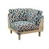Soferia - IKEA NORSBORG Funda para módulo de esquina, Mozaik White