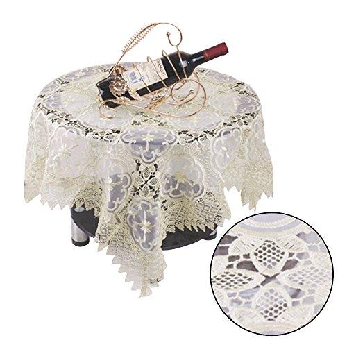 äsche Premium Lace Tischdecke-Für Hochzeit, Restaurant oder Banquet-111,8x 111,8cm, quadratisch, champagner ()