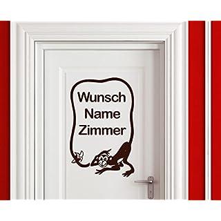 arslinea Wandtattoo - Wunsch Name Zimmer, 60x39 cm, dunkelrot