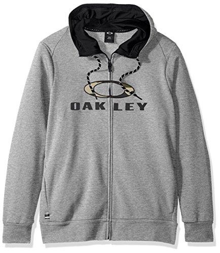 Oakley Herren Combat FZ Hoodie Full Zip Sweatshirt, Athletic Heather Grey, L Athletic Zip-front Sweatshirt