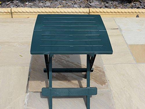 Uk gardens tavolo tondo da giardino in resina colore for Tavolo plastica pieghevole