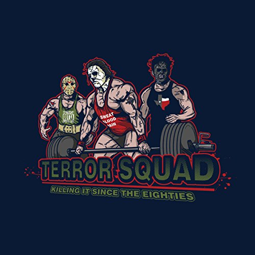 Terror Squad 80s Horror Movies Men's Vest Navy Blue
