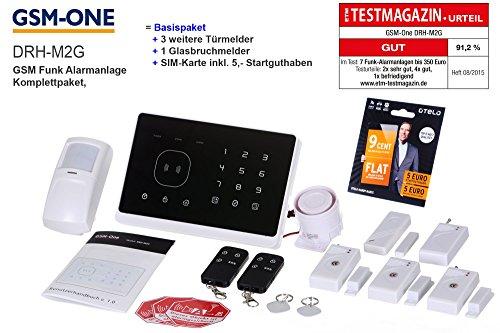 GSM-Funk Alarmanlage M2G inkl. Sprachausgabe im KOMPLETTPAKET von GSM-One, SCHWARZ