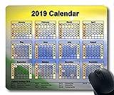 Kalender 2019 mit wichtigen Feiertagspads, Mäusematte, Sky News Gaming-Mauspad