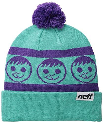 Neff Standard Beanie Hat, Unisex, Standard, Teal/Purple, Einheitsgröße