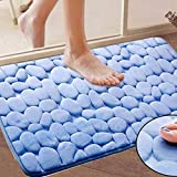 mark8shop 40x 60cm saugfähig Widerstandsfähigkeit Memory-Schaum Teppich Badezimmer Prägung Stein Form Fußmatte
