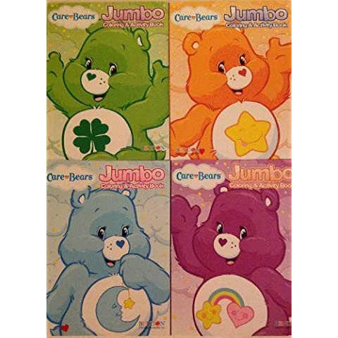 Care Bears Jumbo Coloring and Activity Book Set (Four 96-page Books) by Bendon Publishing International, Inc. - Jumbo Care Bears