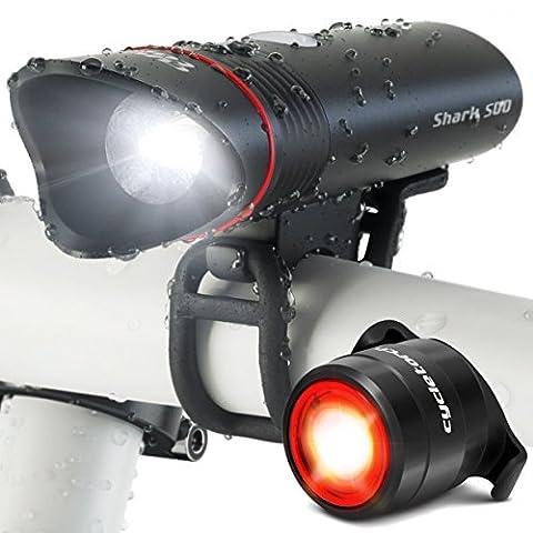 Cycle Lampe torche Requin 500USB rechargeable pour vélo 2LED Tail