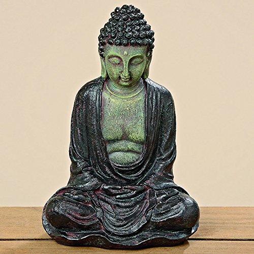 Buddha Figur H28cm braun aus Kunstharz