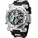 SIBOSUN Sport Watch Digital Wrist Large Face Waterproof Military LED Stopwatch Men Japanese
