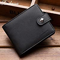 BZAHW Creative PU Leather Wallets short paragraph document business card pack of cards sets of business cards photo card bit packet (Color : Black, Size : One size)