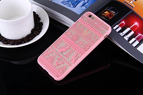 König-Shop Henna Cover Handy Hülle Case Schutzhülle Bumper Tasche Indische Sonne Mandala Rosa, Für Handy:Samsung Galaxy S7, Motiv auswählen:Indianische Spitze Ägyptische Zeichen