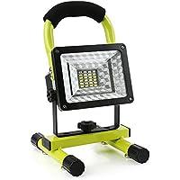 Projecteur Led Rechargeable Super Lumineuse 15W Floodlight Torche Lampe 7 Heure Work Light Sans Fil Portable Pour Chantier Garage Bricolage Travaux (Vert)