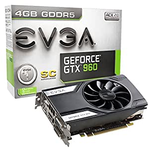 EVGA GTX960 Scheda Video 4GB SC, Nero