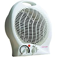 Daewoo Compact, Portable 2000W Heater with Carry Handle, Power Indicator, 1.7m Power Cable and Two Heat Settings 1000w & 2000w - White