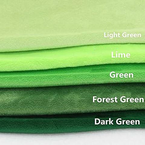Tissu en polaire Coloris différents Tissu polaire pour sweing Patchwork 50X 100cm vert foncé