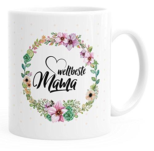 MoonWorks Kaffee-Tasse Weltbeste Mama Geschenk für Mutter Muttertag Einfarbig weiß Unisize
