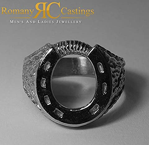 Solid Sterling STAMPED 925 Silver Highly Polished Horse shoe Ring 9.5 grams Any Size 18 x 16 mm