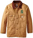 NCAA Michigan State Spartans Boy 's Verwitterte pflanzengießen Coat, Jungen, Carhartt Brown, Large