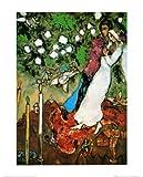 Marc Chagall - Die Drei Kerzen Poster Kunstdruck (50 x 40cm)