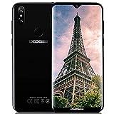 DOOGEE Y8 Günstige Handy ohne Vertrag 4G, 2019 Billige Senioren Smartphone 6,1 Zoll Wassertropfen Android 9 Mobile 3GB +16GB Telephone MT6739 Dual Nano SIM Gesichtserkennung Fingerabdruck - Schwarz
