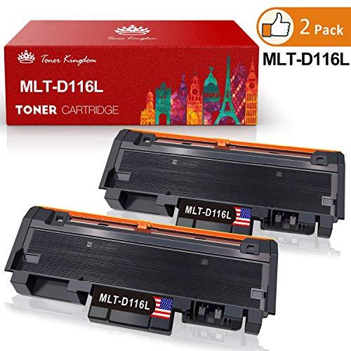 Toner Kingdom Compatible Cartucho de Tóner para Samsung MLT-D116L MLT-D116S Xpress M2625 M2626 M2675 M2675F M2675FN M2676 M2825 M2825ND M2826 M2835 M2835DW M2875 M2875FD M2876 M2885FW 2*Negro