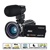 Videocamera 4K, Cofunkool WiFi Ultra Alta Definizione 48MP Digitale Videocamera,...