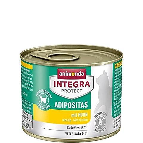 Animonda Integra Protect Adipositas Katzenfutter mit Huhn, 6er Pack (6 x 200 g)