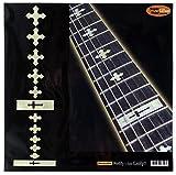 Griffbrett Marker Inlay Aufkleber Decals für Gitarre und Bass-cross-wp
