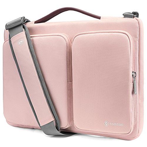 Tomtoc Housse pour Ordinateur Portable pour 13.3 Pouces MacBook Air | 13 Pouces MacBook Pro Retina A1502/A1425 | 12,9 iPad Pro |13.5 Pouces Surface Laptop | HP ThinkPad Asus Chromebook 13 | Tablet, Rose