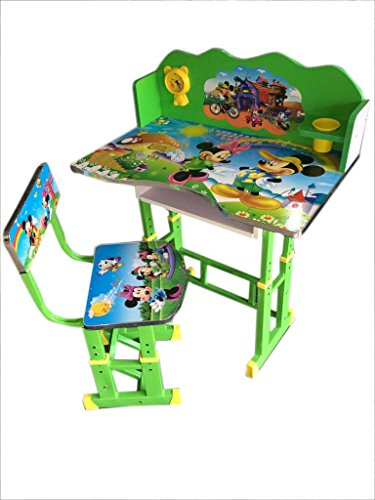 Furniture First American Mickey Mouse Kids Study Table & Chair Set - Suitable For Age-3-10 Years - Blue -