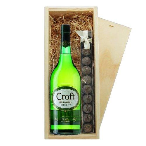 Croft Original Sherry & truffes, boîte en bois