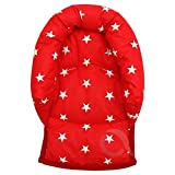UNIVERSAL Infant  Baby  Toddler car seat , stroller head support pillow (Soft Cotton) (Star/red)